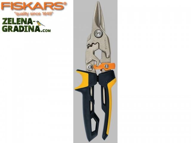 """FISKARS 1027207 - Ножица за ламарина с прави остриета """"PowerGear"""", Дължина: 25.2 cm"""