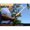FISKARS 110970 - Берач за плодове (UP80), който се поставя на резачка (ножица) за високи клони, Диаметър: 15,5 cm