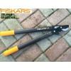 """FISKARS 112290 - Овощарска ножица за рязане на клони """"PowerGear"""", Зъбчат УСИЛВАЩ механизъм, Разминаващи се остриета, Модел: M (L74), Дължина: 55 cm, Рязане на клони: до Ф 38 mm"""