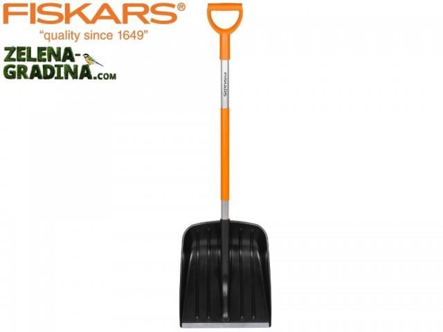 """FISKARS 141001 - Лопата за сняг """"SNOWXPERT"""" с АЛУМИНИЕВА дръжка, Дължина: 1.31 m, Ширина: 35 cm, Тегло: 1.4 кг"""