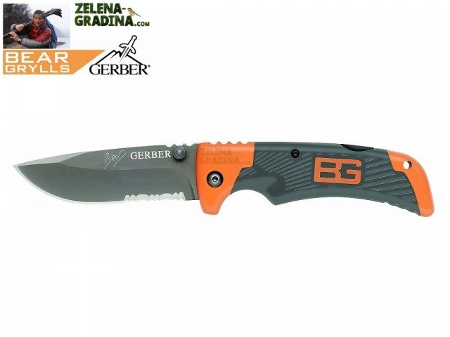 "GERBER 1013958 - Компактен нож ""Bear Grylls"", модел ""Scout"", дължина: 18.5 cm, Тегло: 68 гр"