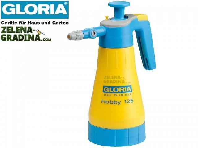 """GLORIA 000025 - Пулверизатор """"Hobby 125"""", Въртящ се разпръсквач, Обем 1.25 L, Тегло 0.6 кг"""