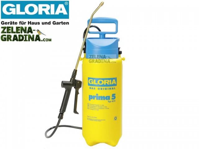 """GLORIA 000081 - Ръчна пръскачка """"GLORIA PRIMA 5"""", Обем: 5.0 L, Тегло: 1.38 кг"""