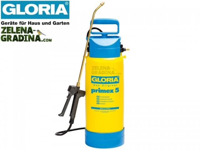 """GLORIA 000083 - Ръчна пръскачка """"GLORIA Primex 5"""", Обем 5.0 L, Тегло 2.0 кг"""