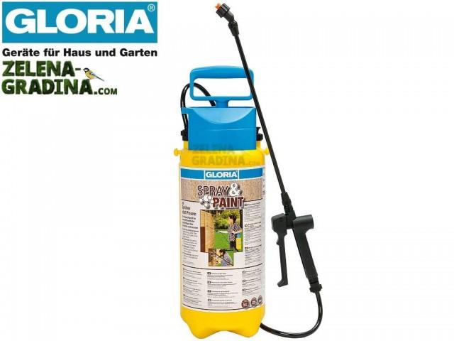 """GLORIA 000101 - Ръчна пръскачка за БОЯДИСВАНЕ """"GLORIA Spray and Paint"""", Обем 5.0 L, тегло 1.39 кг"""