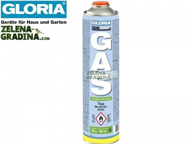 """GLORIA 728303.0000 - Резервен патрон за ТЕРМОФЛАМ унищожител на плевели на """"GLORIA"""", Обем: 600 ml"""
