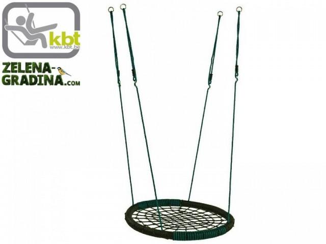 """KBT 106128 - Плетена люлка гнездо """"OVAL"""", Диаметър: Ф108 cm, Цвят: Зелен"""