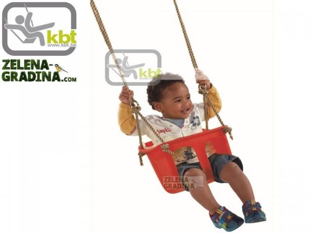 KBT 134.001.001.001 - Бебешко столче, Материал на въжетата: PP, Дължина на въжетата: 2.5 m, Цвят червен
