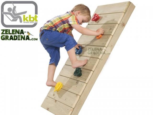 KBT 348.001.007.001 - Пластмасови лапи/камъни за монтаж на стена за катерене, 5 бр. в опаковка, Различни цветове