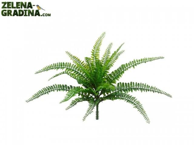 """B108Z-24810-0019 - Изкуствен храст """"Бостан Папрат"""", Размер на растението: 35 cm"""
