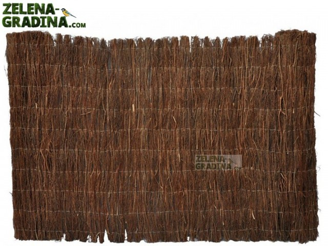 MZ 2HF1X3 - Естествено покривало/плет за огради и балкони, Височина: 1.0 m, Дължина: 3.0 m, Цвят: кафяв