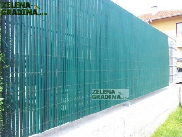 """MZ 8006 PVC покривало за огради, балкони, тенти и тераси модел """"БАМБУК""""; Височина H=1.0 m x Дължина L=3.0 m; Цвят: зелен"""