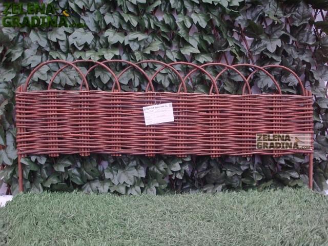 JLY-10Q045 - Плетена декоративна ограда, Материал: Върба, цвят: натурал, Височина: 45 cm, Дължина: 100 cm
