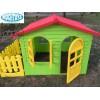 MOCHTOYS 10498 - Пластмасова къща с оградка, Размери: 190x127x118 cm, Тегло: 18,6 кг