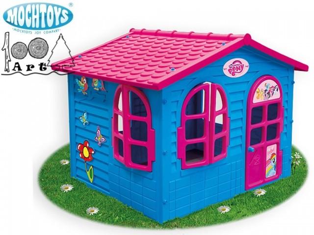 "MOCHTOYS 10720 - Пластмасова къща за игра на двора ""My Little Pony"", Размер: 118/127/150 cm, Тегло: 19 кг"