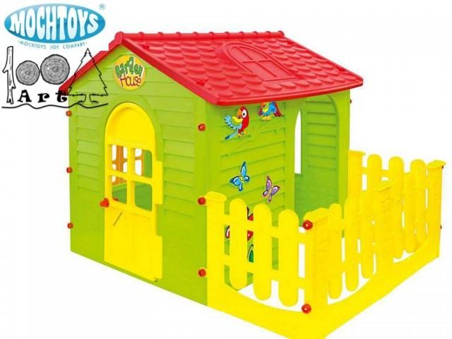 MOCHTOYS 10839 - Къща малка с ограда, Размери: 120x165x120.5 cm, Тегло: 17.2 кг