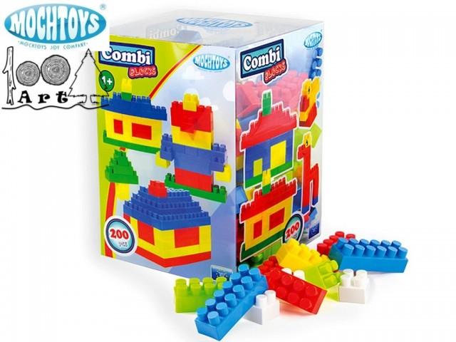 MOCHTOYS 10938 - Конструктор с блокчета 200 елемента, Размери на кутията: 80/60/30.5 см