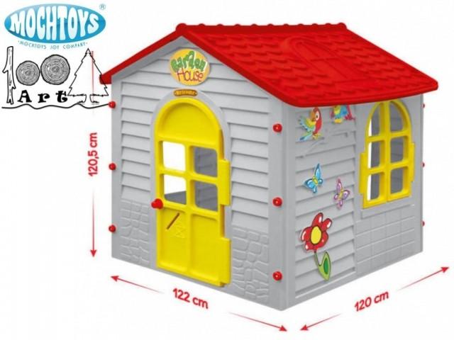 MOCHTOYS 11156 - Пластмасова къща за двора, Размери: 122x120x120.5 cm, Тегло: 14.6 кг