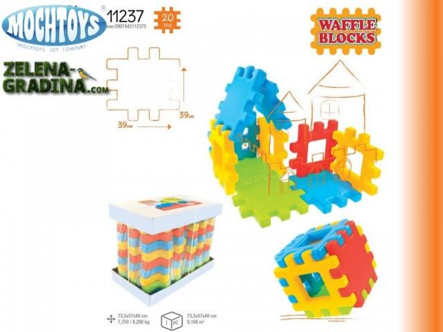 "MOCHTOYS 11237 - Мега блокчета за игра ""MOSHTOYS"", Общ размер: 73,5x57x40 cm, Тегло: 7,75 кг"