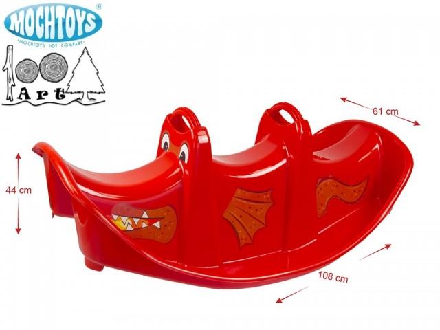 MOCHTOYS 11388 - Голяма люлка за 2 деца, Цвят: Червен, Размери: 44/108/61 см