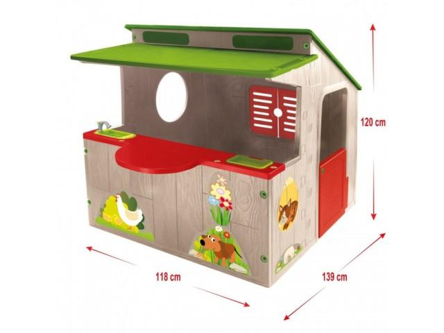 MOCHTOYS 11392 - Къща за игра с кухня, Размери: 138x118x120 см