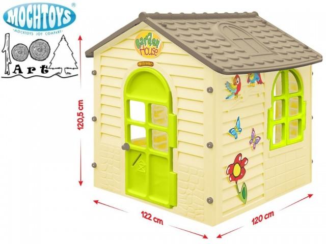 MOCHTOYS 11558 - Градинска къща малка, Размери: 122х120х120.5 cm, Тегло: 15 кг