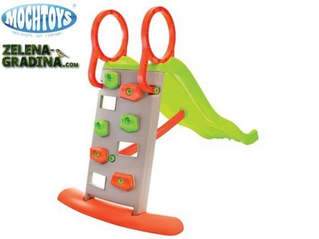 """MOCHTOYS 11564 - Детска водна пързалка/стена за катерене """"Mochtoys"""" с дължина на улея 205 cm"""