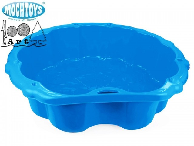 MOCHTOYS 5656 - Детски пластмасов пясъчник, Цвят: Син, Размери: 22x80x87 см, Тегло: 1,66 кг