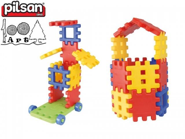 PILSAN 03110 - Детски конструктор с едри елементи, Съдържа 30 части, Тегло: 3.50 кг