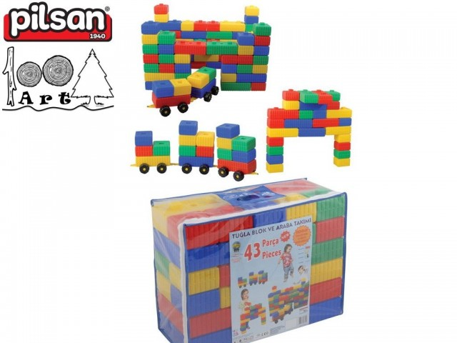 PILSAN 03251 - Тухлени блокчета 43 части, Размери: 23x46x58.5 см, Тегло: 5.20 кг