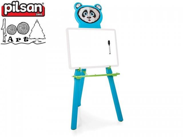 """PILSAN 03418 - Детска дъска за рисуване """"Панда"""", Цвят: Синя, Размери: 9.5x33.5x44.5 см, Тегло: 1.33 кг"""