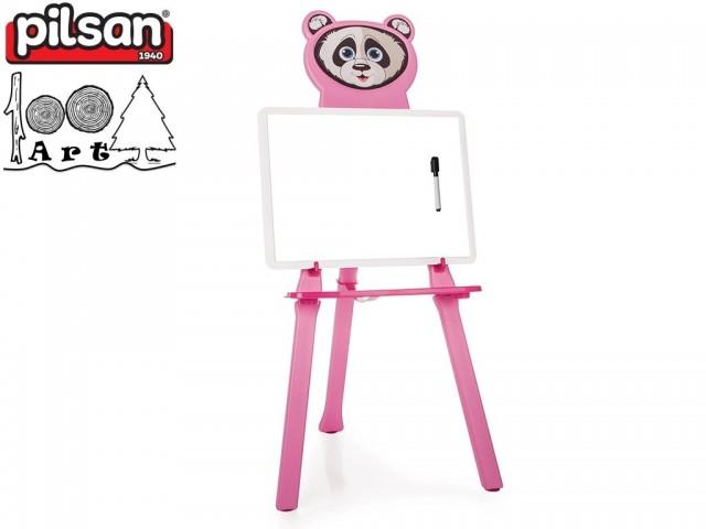 """PILSAN 03418 - Детска дъска за рисуване """"Панда"""", Цвят: Розова, Размери: 9.5x33.5x44.5 см, Тегло: 1.33 кг"""