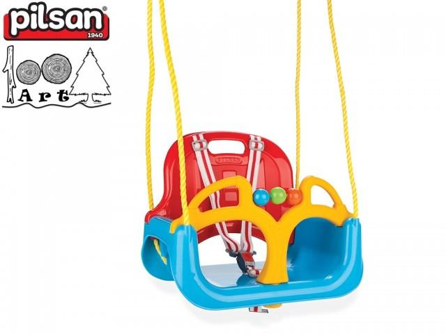 """PILSAN 06129 - Детска люлка """"Самба"""", Цвят: Син, Размери: 37x44x35 см"""