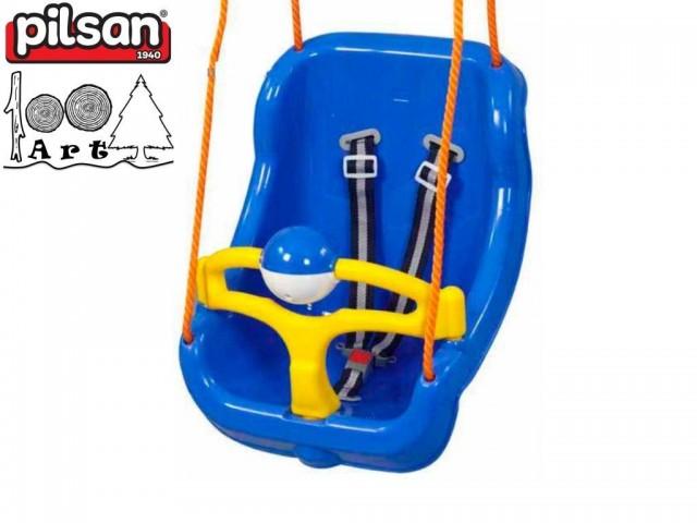 PILSAN 06130 - Голяма детска люлка, Цвят: Син, Размери: 36x51x41 см, Тегло: 2.5 кг
