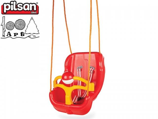 PILSAN 06130 - Голяма детска люлка, Цвят: Червен, Размери: 36x51x41 см, Тегло: 2.5 кг