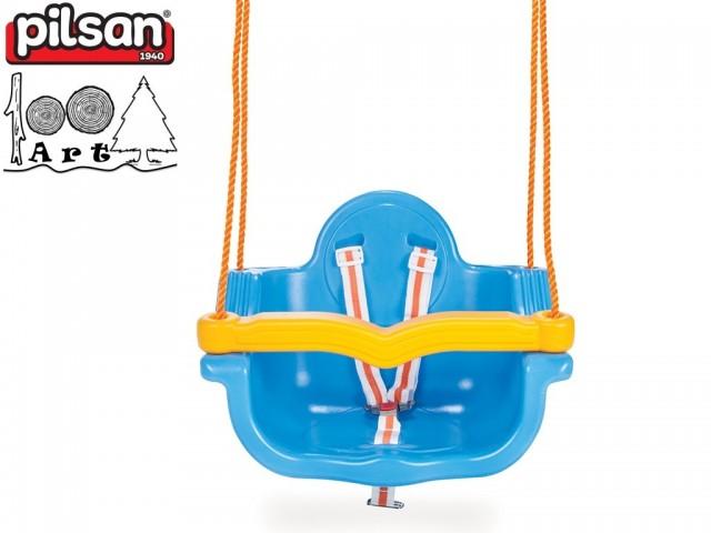 """PILSAN 06138 - Детска пластмасова въжена люлка """"JUMBO"""", Цвят: Син, Размери: 41.5x55x40 см, Тегло: 3.5 кг"""