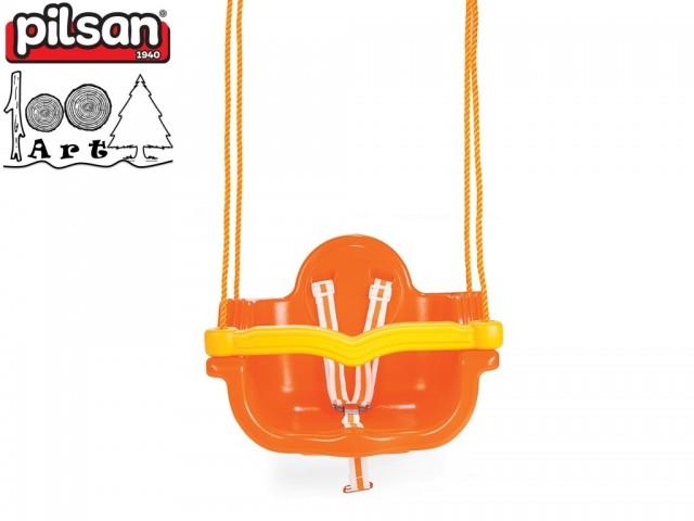 """PILSAN 06138 - Детска пластмасова въжена люлка """"JUMBO"""", Цвят: Оранжев, Размери: 41.5x55x40 см, Тегло: 3.5 кг"""