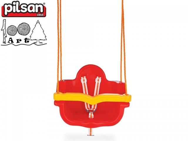 """PILSAN 06138 - Детска пластмасова въжена люлка """"JUMBO"""", Цвят: Червен, Размери: 41.5x55x40 см, Тегло: 3.5 кг"""