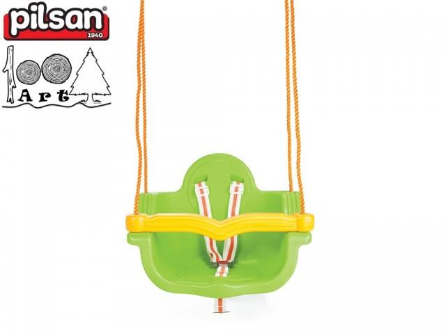 """PILSAN 06138 - Детска пластмасова въжена люлка """"JUMBO"""", Цвят: Зелена, Размери: 41.5x55x40 см, Тегло: 3.5 кг"""