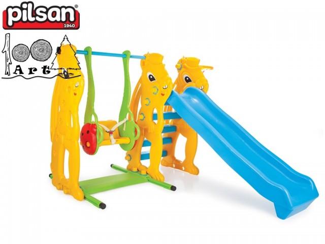 PILSAN 06140 - Пързалка с люлка, Размери: 124x198x170 cm, Тегло: 29 кг