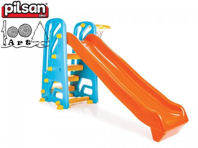 PILSAN 06142 - Пързалка с баскетболен кош, Размери: 105x172x91 cm, Тегло: 16 кг