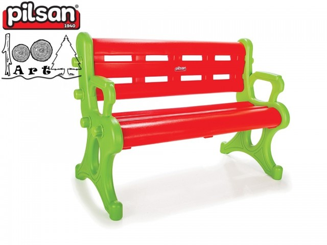 PILSAN 06143 - Детска пластмасова пейка, Максимално натоварване: 70 кг, Размери: 72x107x50 см