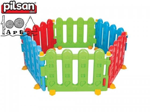PILSAN 06145 - Пластмасова оградка от 6 елемента, Размери на 1 елемент: 56x80x8 см