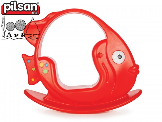 """PILSAN 06151 - Люлка """"Рибка"""", Цвят: Червен, Размери: 34x103x87 см, Тегло: 5.10 кг"""