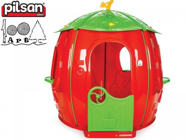 """PILSAN 06158 - Градинска къща """"ТИКВА"""", Размери: 142x141x141 cm, Тегло: 12.60 кг"""