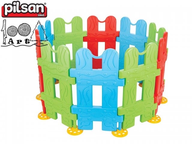 PILSAN 06159 - Ограда от 10 елемента, Размери: 79.5x144x144 см