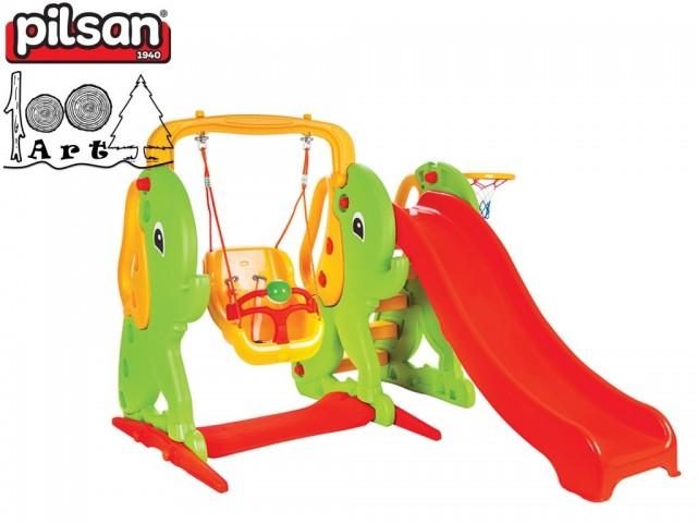 PILSAN 06161 - Пързалка с люлка Слонче, Размери: 133x181x179 cm, Тегло: 32 кг
