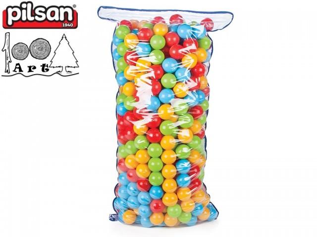 PILSAN 06182 - Детски пластмасови топки за игра 500 бр., Диаметър: 7 cm