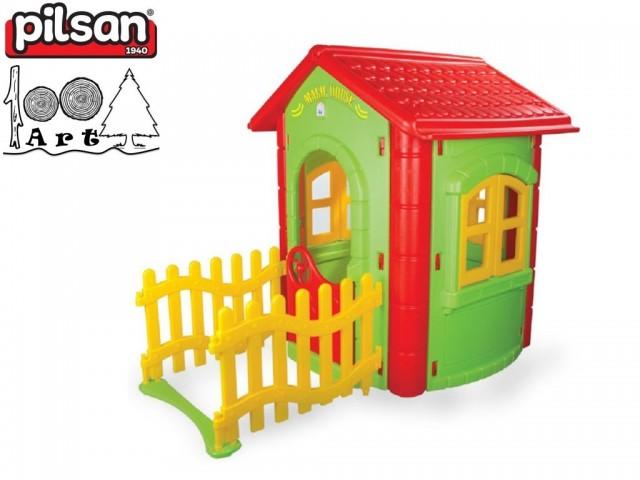 PILSAN 06194 - Градинска магическа къща с ограда, Размери: 131x172x112 cm, Тегло: 18.10 кг
