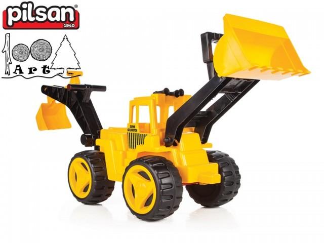 PILSAN 06206 - Супер детски булдозер с гребло, Размери: 30x65x41 см, Тегло: 2.4 кг